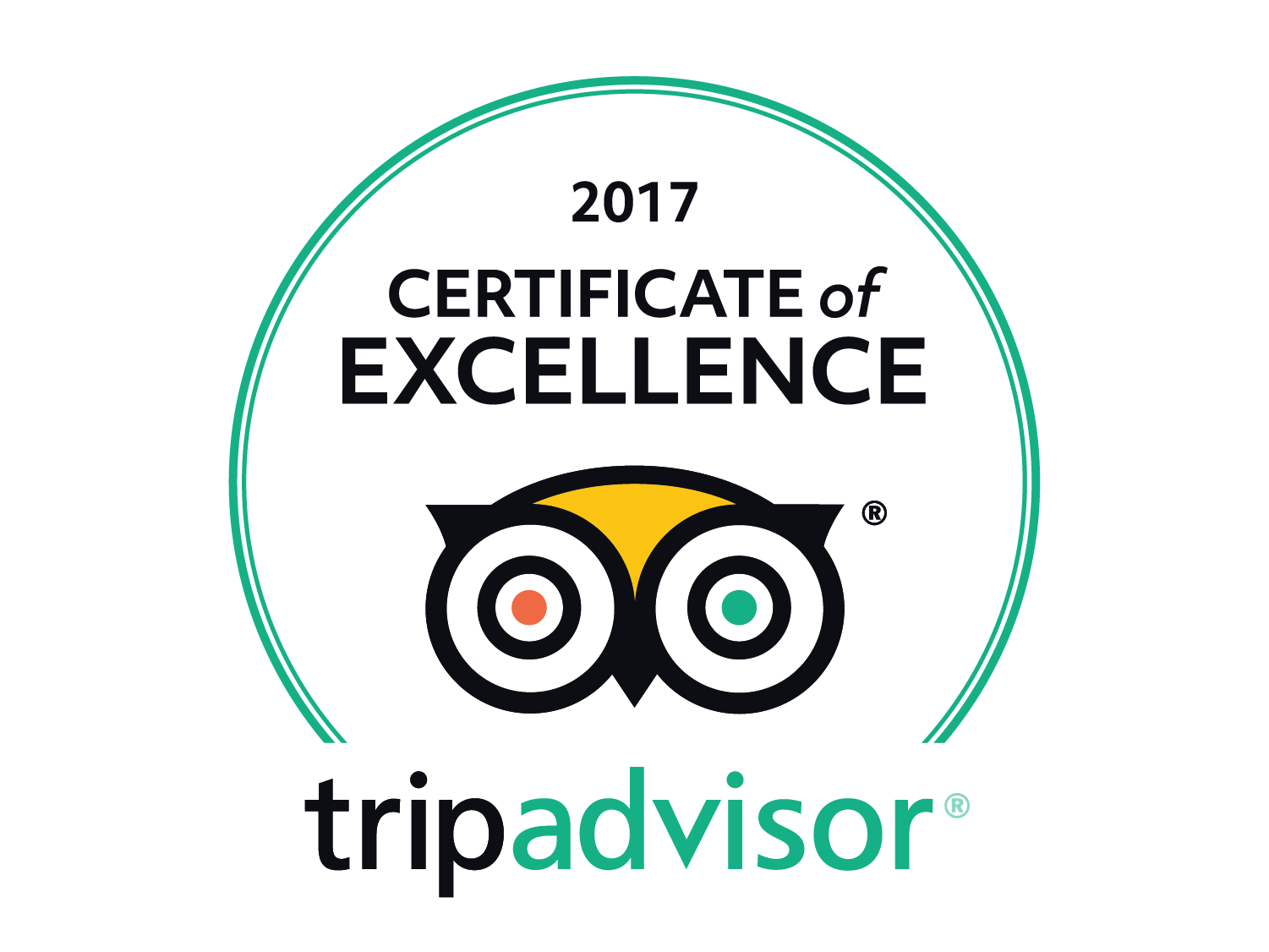 Trip Advisor Certificate of Excellence 2017 World of Country Life Exmouth Devon