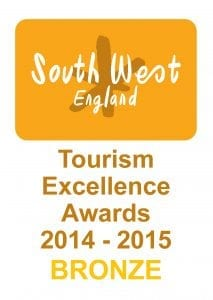 South West England Tourism Excellence Awards Bronze Winner 2014-2015