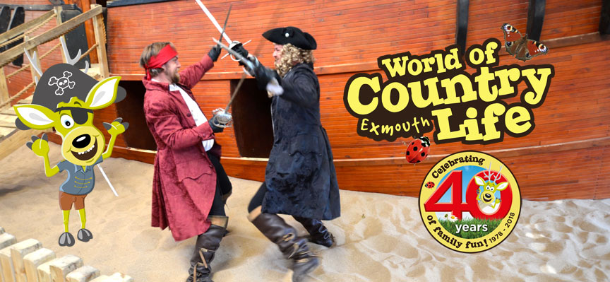 Pirate Week at World of Country Life, Exmouth, Devon