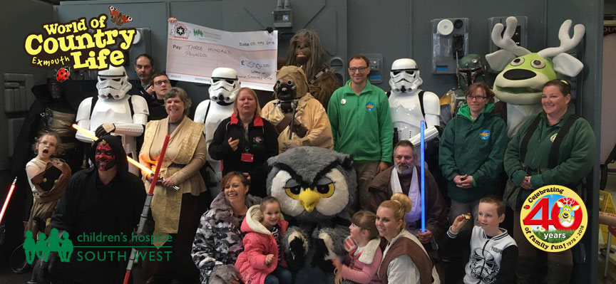 Star Wars Day May Bank Holiday Monday at World of Country Life Exmouth Devon