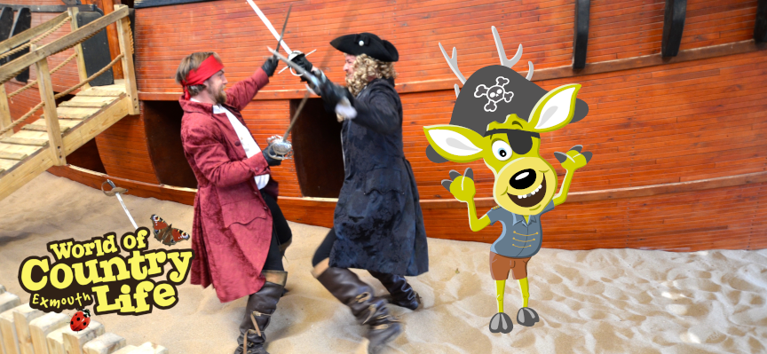 May Half Term Pirate Week at World of Country Life Exmouth Devon