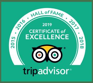 Trip Advisor Hall of Fame 2019