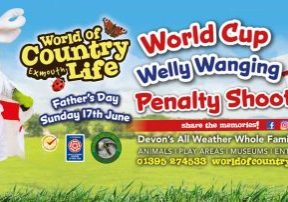 Father's Day Welly Wanging World Cup at World of Country Life Exmouth Devon